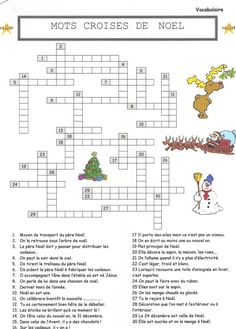 Mots croisés, mots cachés sur noel – Fenna Welling - Let's Pin This French Christmas, Noel Christmas, Christmas Crafts, Christmas Activities For Kids, Christmas Party Games, Christmas Crossword Puzzles, French Celebrations, Flags Europe, French Worksheets