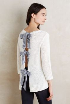 Obsessed with this bow back sweater!