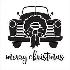 Christmas Truck, Christmas Svg, Christmas Decorations, Christmas Decals, Painted Wood Signs, Vinyl Projects, Lettering Design, Painting On Wood, Cricut Design