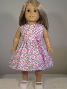 Handmade Fashion Dress Pink with White Dots Halter Dress For 11.5 inches Doll