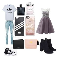 """Untitled #4"" by aaliyahmurray07 on Polyvore featuring adidas, AMIRI, Converse, adidas Originals, Casetify, Chanel, Christian Dior, Michael Kors and Monsoon"