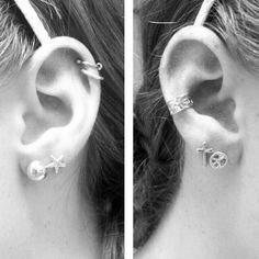 Ear piercings- love the lower two and the higher third to balance it out