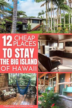 """Are you looking for the best cheap places to stay on Big Island? Check out these awesome Big Island vacation rentals that won't break the bank! To make the most out of your visit to the Big Island and get a taste of the very distinct areas of the island, I recommend splitting your time between its two sides."" Honolulu Hawaii, Oahu, Hawaii Vacation, Vacation Rentals, Hawaii Travel Guide, Big Island Hawaii, Lanai, The Good Place, Places To Go"