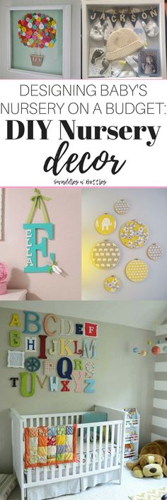 Designing Baby's nursery on a budget: DIY projects are a great way to save money when it comes to preparing for your little one. These are easy projects that don't take a ton of expertise! They can be for a baby boy or baby girl nursery!