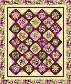 REALLY cool stack & whack quilt pattern....hint hint Laura Jean. ;p