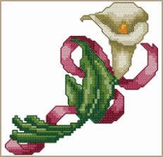Cross-Stitch Design Calla Lily free cross stitch chart *must join website