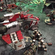 """""""My Storm Raven arrives with a belly full of Terminators. He takes off two wounds from one of the Flyers. #warhammer40k #gamesworkshop #greyknights…"""""""
