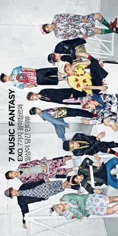 #EXO ♡ Kris, Xiumin , Lu Han , Lay , Chen , Tao, Suho , Baekhyun , Chanyeol, D.O., Kai, Sehun - The Celebrity Magazine October Issue '13