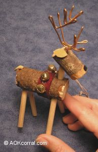 reindeer ornaments how to make wooden reindeer christmas ornaments - Wooden Deer Christmas Decorations
