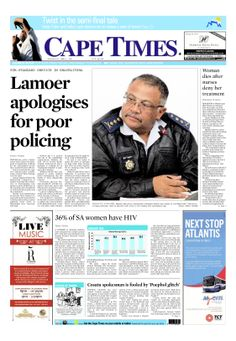 News making headlines: Lamoer apologises for poor policing