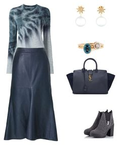 """Untitled #2302"" by bushphawan ❤ liked on Polyvore featuring Raquel Allegra, TIBI, Alberto Guardiani, Yves Saint Laurent, Samira 13 and Alison Lou"