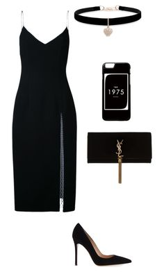 """""""Jb"""" by dida99 on Polyvore featuring Christopher Esber, Gianvito Rossi, Betsey Johnson and Yves Saint Laurent"""