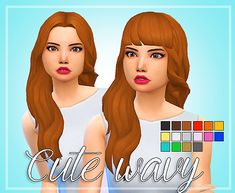 Hello everyone! I am back with some very cute wavy hair! • YOU CANNOT HAVE BOTH IN THE GAME ♥ ————————-T.O.U————————— ♥ • You CAN recolor but please don't include the mesh and do not upload on paysites • Don't claim as your own • Credit me if you...
