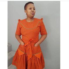 Top shweshwe dresses with apron - Reny styles shweshwe dresses with apron