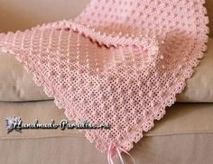 Adorable Baby Afghan Crochet Pattern Easy One by PaperButtercup Modern Crochet Patterns, Crochet Patterns For Beginners, Crochet Blanket Patterns, Baby Blanket Crochet, Crochet Stitches, Crochet Baby, Free Crochet, Afghan Crochet, Plaid Crochet