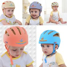 Hearty Christmas Toddler Baby Infant Safety Hat Helmet Headguard Protector Walk Cap Adjustable Soft Headguard Cap Ture 100% Guarantee Home & Garden