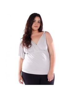Plus Size Silver One Sleeve Top