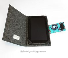 Kindle Fire case Kindle cover - Book style - Dots circles flowers navy red white on turquoise teal Kindle Fire Case, Fire Cover, Kindle Cover, Teal, Turquoise, Amazon Kindle, Phone Cover, Sewing Ideas, Apple Watch