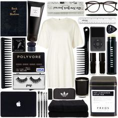 Untitled #328 by hannac2000 on Polyvore featuring Topshop, adidas Originals, Illesteva, Pop Beauty, NARS Cosmetics, GHD, Eight & Bob, Bobbi Brown Cosmetics, The New Black and Home Source International