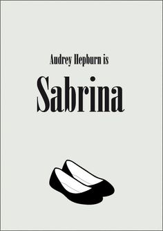 Sabrina. Minimalist Movie Poster