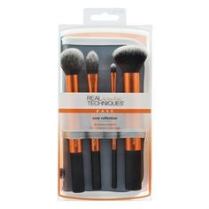 The Real Techniques Flawless Base Set features a contour brush, detailer brush, buffing brush, square foundation brush, and brush cup. Find professional makeup tools at Real Techniques! Best Makeup Brushes, Makeup Brush Set, Makeup Tools, Best Makeup Products, Beauty Products, Real Techniques Set, Real Techniques Brushes, Core Collection, Makeup Collection