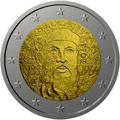 "Finlandia. 2 euros cc 2013 ""Frans Emil Sillanpää""   Numismática Visual Classical Music Composers, Famous Architects, Place Names, Coins, Was, World, Finland, Stamps, Souvenirs"