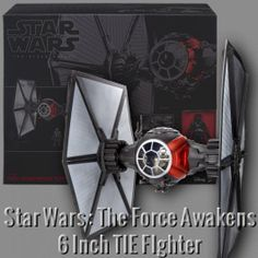 Add the newest releases from Star Wars: Episode VII to your collection today. This fully detailed vehicle of the new generation TIE Fighter, as seen in The Force Awakens, includes accessories and a First Order TIE Fighter Pilot action figure.
