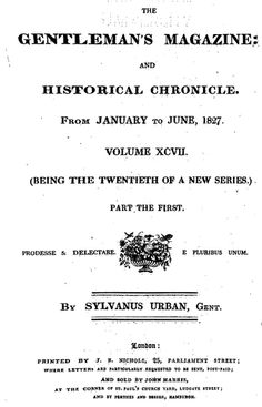 1827 Plea Against Gambling in the Gentleman's Magazine by Sylvanus Urban via Google Books (PD-150) #Regency, via Suzi Love