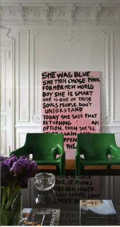 love that painting against those amazing walls...