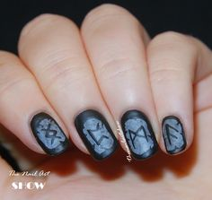 The Nail Art Show: For Odin and For Nail Art! Viking Runes