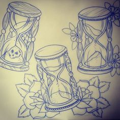 Frenchie Fabulous @ Neverland — An hour glass or two. Hourglass Drawing, Hourglass Tattoo, Tattoo Old School, Time Tattoos, Sleeve Tattoos, Hour Glass Tattoo Design, Familie Symbol, Neotraditional Tattoo, Design Tradicional