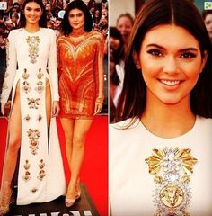 Kendall is wearing the Satanic Baphomet on her dress. Kylie is wearing the same image on her dress. It's all across the front, it's just more subtle but it's plain to see. Who do serve, who are you promoting and whom are you selling out to. God says man cannot serve two masters...Money & fame...You can't promote Satan's Fashion for your own greed for money & fame and serve God also. So which is it?