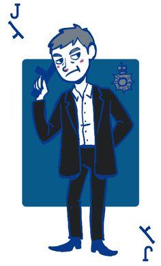 Lestrade - Jack of Clubs (with a police baton oho!)