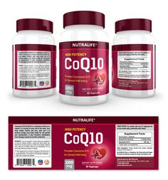 CoQ10  Supplement Label Template http://www.dlayouts.com/template/887/coq10-supplement-label-template