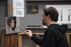 Aaron Westerberg. Artist at work