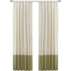 A lovely addition to your living room or master suite, this chic curtain panel showcases a grommet top and color-block design in beige and sage.