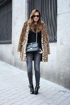 Sacon piel leopardo