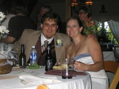 Mr. & Mrs. Brehm, from Houston, Texas taking a moment to pose at their wedding reception.