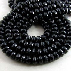 8-9mm - AA Melanite Garnet Faceted Rondelle Bead Strands