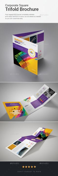 Corporate Trifold Brochure Template Vector EPS