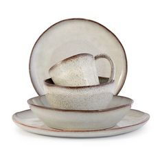 Farmstead Stoneware Collection - Bisque (491568300), Stoneware Dinnerware Sets, Wooden Bowls & More   bambeco