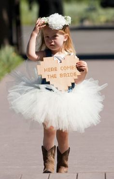flower girl dress with cowboy boot | dress and a flower crown adorning your flower girl or just a flower ...