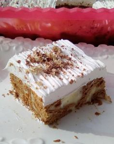 Greek Sweets, Greek Desserts, Pudding Desserts, Greek Recipes, No Bake Desserts, Easy Desserts, Dessert Recipes, Biscotti Cookies, Sweet And Salty