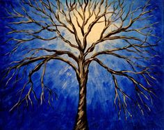 Abstract Tree Painting Blue | Amazing Wallpapers