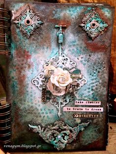 Mixed Media Place: Art-journal cover by Eirini