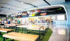 Ambiente comercial (visual), parte del detallista, San Jose Del Cabo, Food Court Design, Area Comercial, Baja California, Cafe Bar, Commercial, Restaurant, Airports, Ceilings