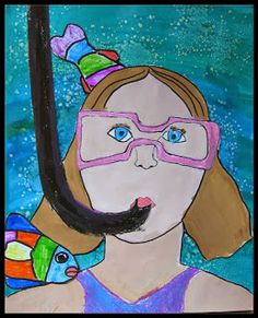 Snorkeling Self Portraits - MaryMaking