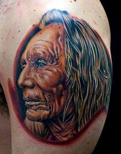 Native American Chief Tattoos - Cool Native American Tattoos Pictures, http://hative.com/40-cool-native-american-tattoos-pictures/,