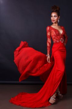 Evening gown for beauty queen