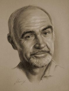 Sean Connery - Pencil Art, another with an amazing voice.  He becomes better with age.